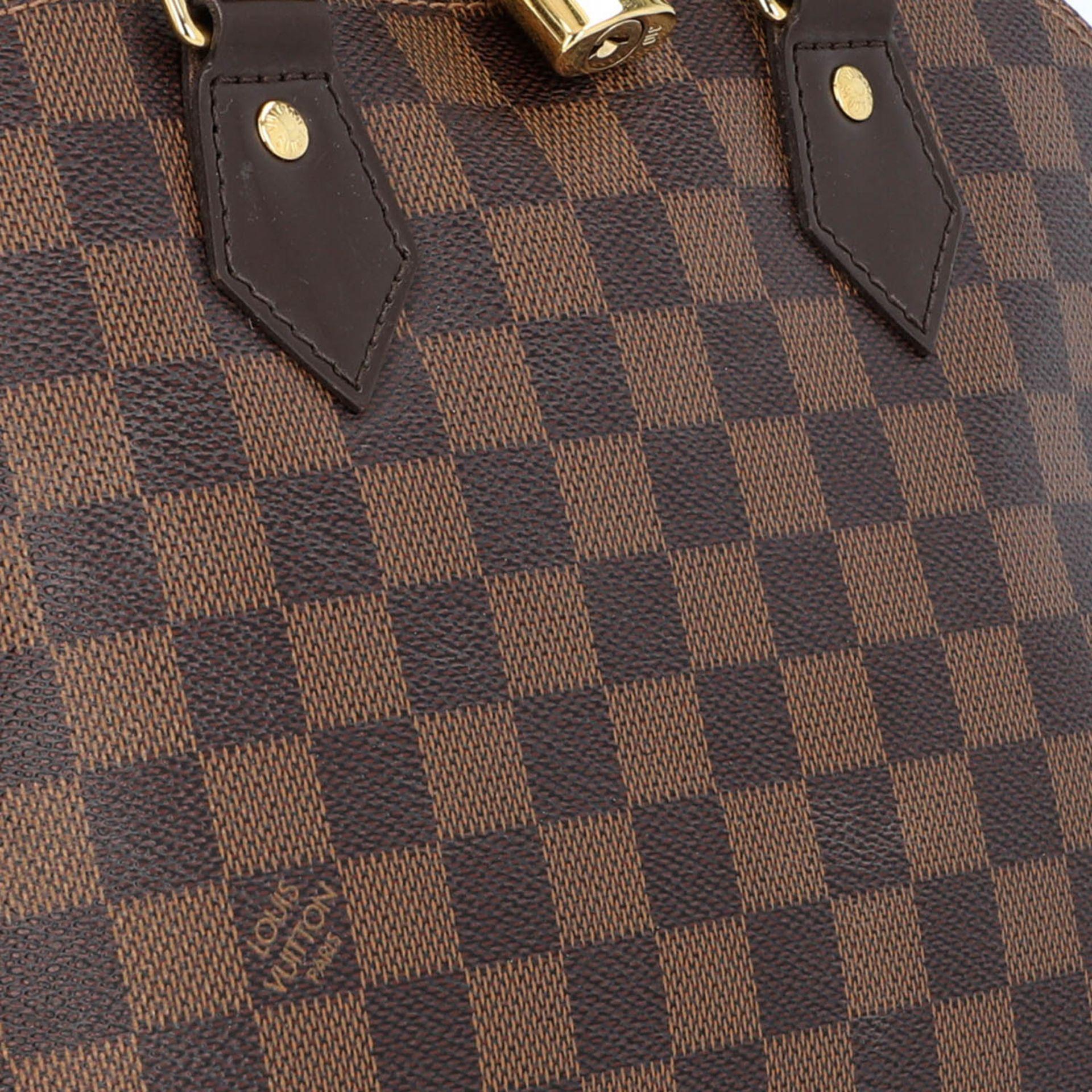 """LOUIS VUITTON Handtasche """"ALMA PM"""", Koll. 2010.Akt. NP.: 1.250,-€. Damier Ebene Serie mit - Bild 8 aus 8"""