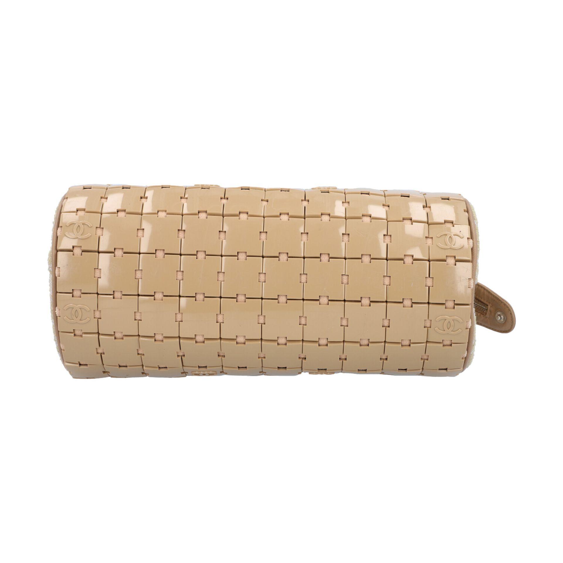 """CHANEL Handtasche """"PUZZLE BLOCK"""", Koll. 2000/2002.Textil, Leder und Kunststoff in Beige. Puzzle- - Bild 5 aus 8"""