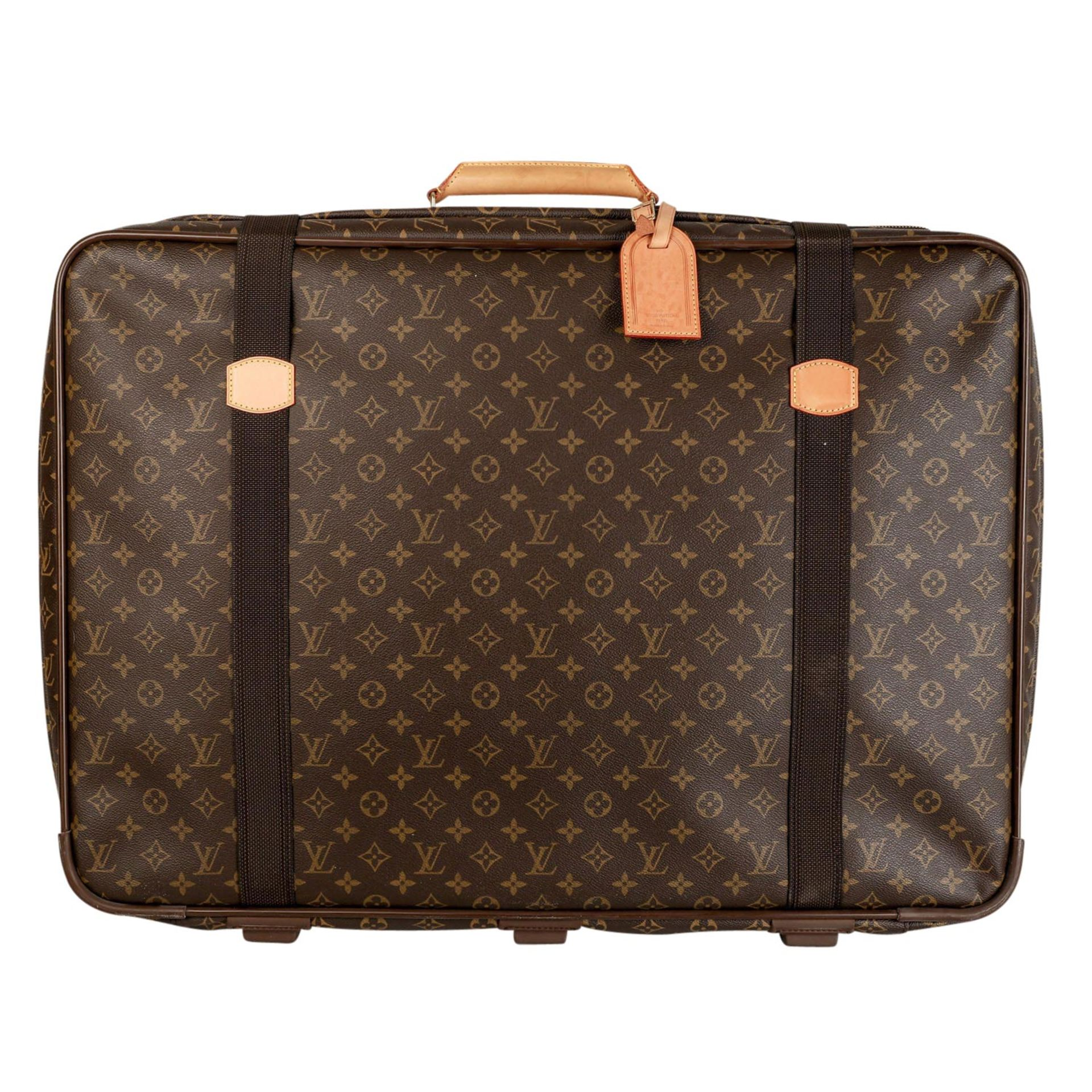 "LOUIS VUITTON Koffer ""SATELLITE"", Koll.: 1996.Monogram Canvas Serie mit Leder-Details und"