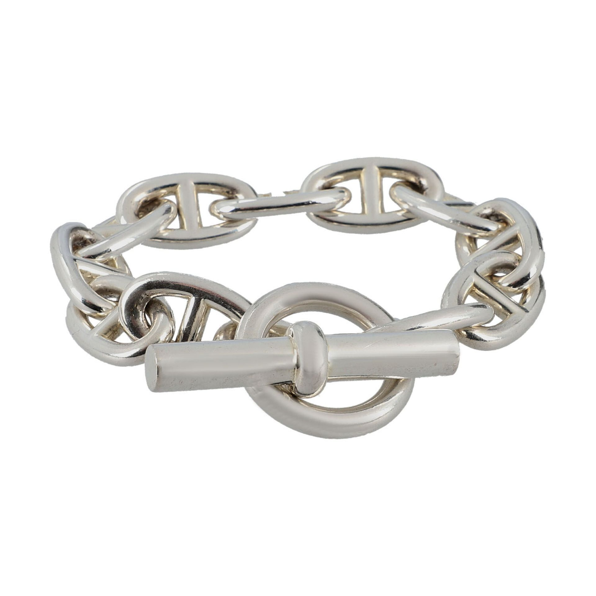 """HERMÈS Armkette """"CHAIN D´ANCRE"""", Länge: 21cm.NP.: 1.080,-€. 925 Silber. Klassische Glieder mit - Bild 2 aus 3"""