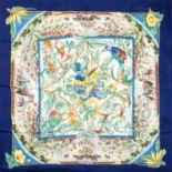 """HERMÈS Seidencarré """"TROPIQUES"""".Designed by Laurence Bourthoumieux, Motiv erstmlas 1987 erschienen."""