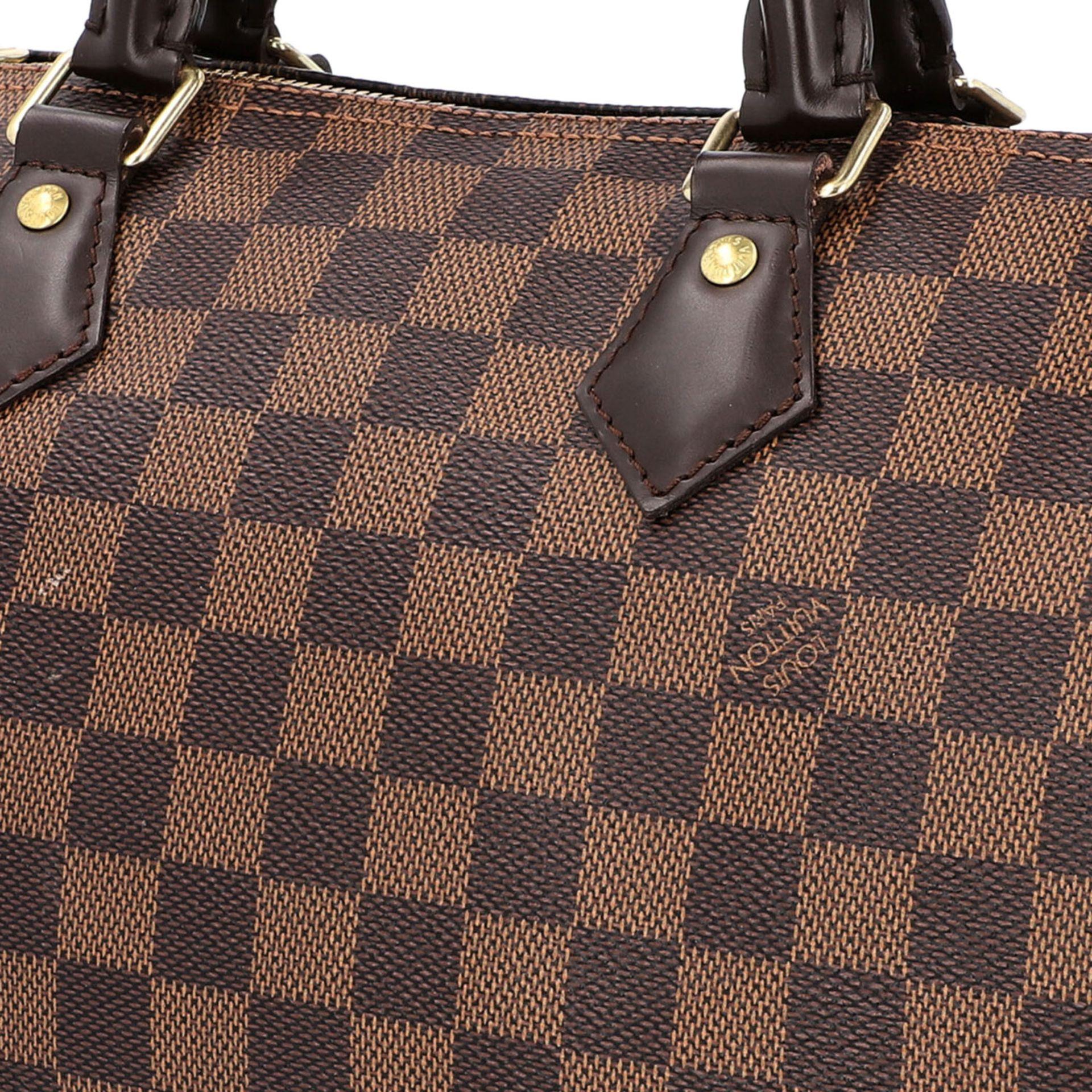 """LOUIS VUITTON Handtasche """"SPEEDY 30 BAND."""", Koll. 2017.Akt. NP.: 1.170,-€. Damier Ebene Serie mit - Bild 7 aus 8"""