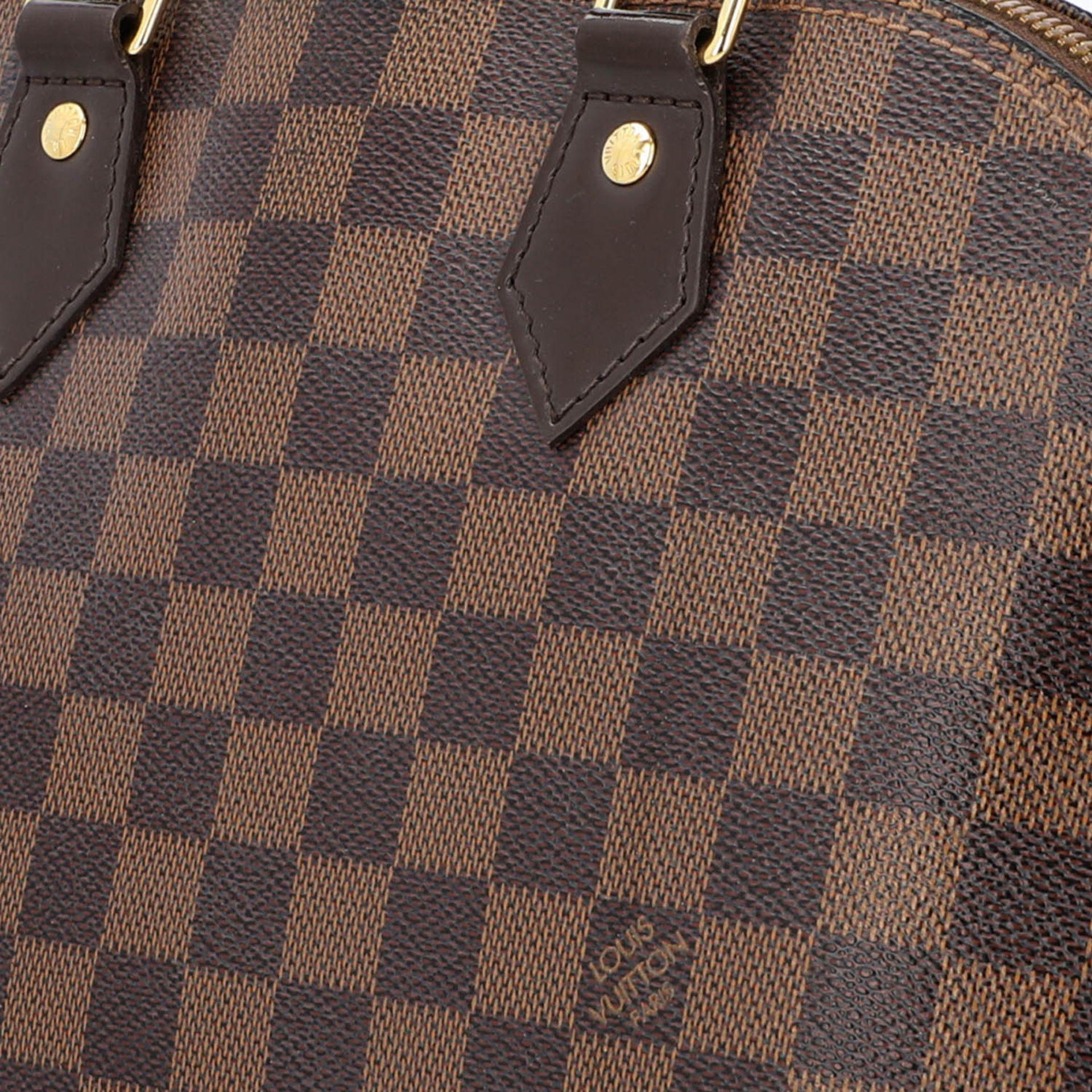 """LOUIS VUITTON Handtasche """"ALMA PM"""", Koll. 2010.Akt. NP.: 1.250,-€. Damier Ebene Serie mit - Bild 7 aus 8"""