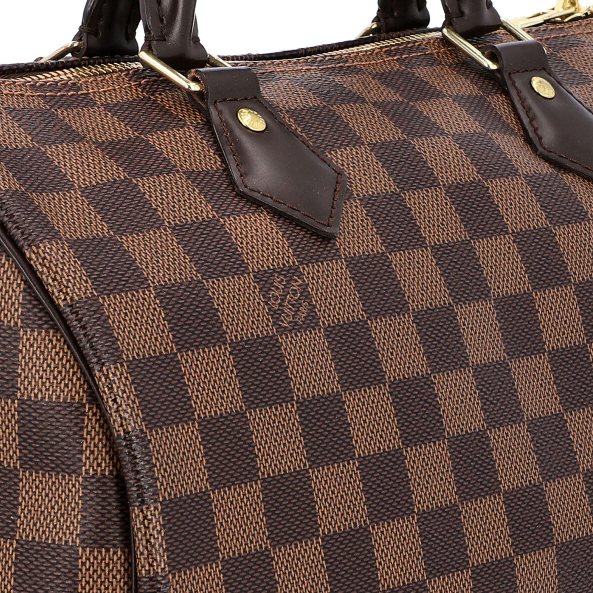 """LOUIS VUITTON Handtasche """"SPEEDY 30 BAND."""", Koll. 2017.Akt. NP.: 1.170,-€. Damier Ebene Serie mit - Bild 8 aus 8"""