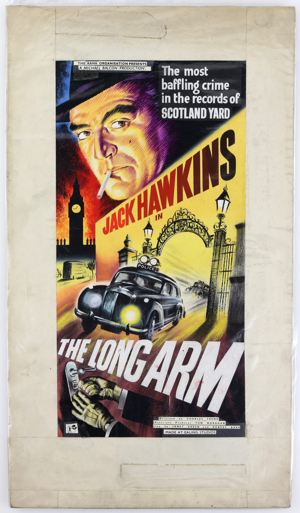 Lot 1285 - The Long Arm (1956) Original hand painted artwork for the UK film poster of the Ealing classic