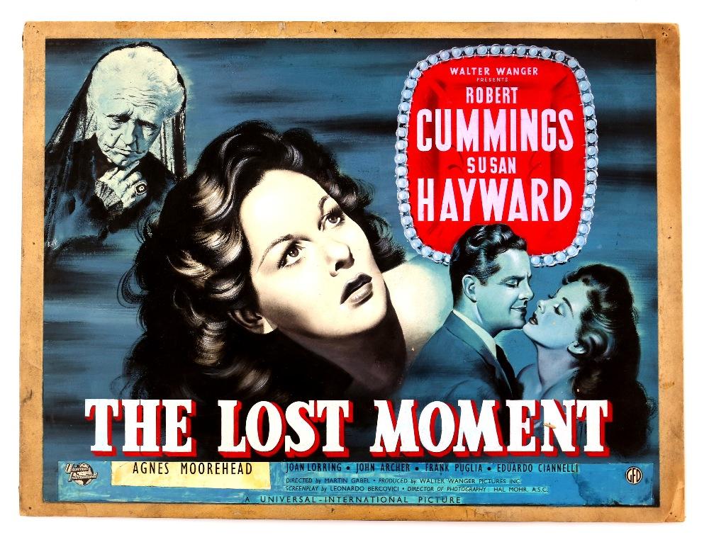Lot 1336 - The Lost Moment (1947) - Original hand painted poster artwork, film noir starring Robert Cummings