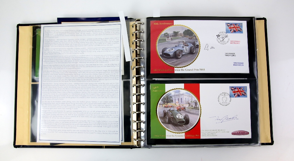 Lot 2055 - Box of 7 Albums, Great Britain PHQ Cards, mint and used up to 2013. Formula One Stamps and covers
