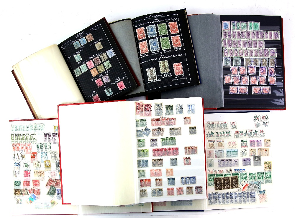 Lot 2053 - Box of 11 Albums and Stock Books, World Stamps with British Commonwealth, Australia, India, China,