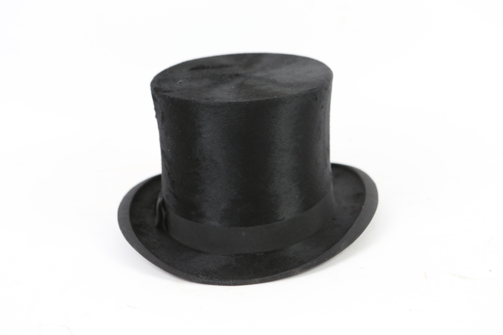 Lot 2003A - A Battersby and Co , London black silk top hat.