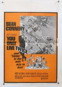 James Bond You Only Live Twice (R-1970's) Two UK Double Crown size film posters (Half Quad),