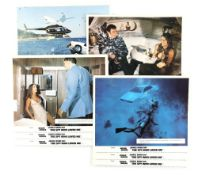 James Bond The Spy Who Loved Me (1977) Set of 8 Front of House cards from the movie starring Roger