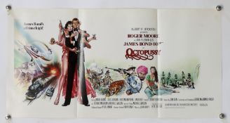 James Bond Octopussy (1983) US Special film poster, starring Roger Moore, United Artists, folded, 14