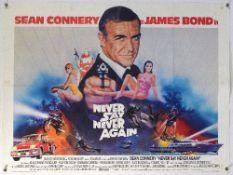 James Bond Never Say Never Again (1983) British Quad film poster, starring Sean Connery, artwork