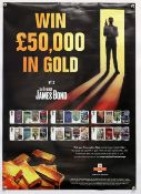 James Bond Royal Mail promotional poster from 2008, rolled, 23.5 x 33 inches.