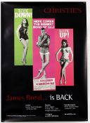 Christie's James Bond Auction (2001) Advertising Poster for the London Sale, rolled, 20 x 30 inches.