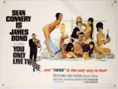 James Bond You Only Live Twice (1967) British Quad film poster, Style C (Bath Tub) starring Sean