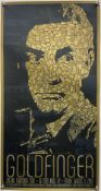 James Bond Goldfinger - Mondo Alamo Drafthouse poster from 2007, artwork by Todd Slater, signed in