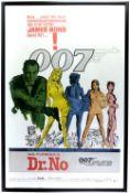 James Bond Dr No (1962) US One Sheet film poster for the first James Bond film, 'Yellow Smoke