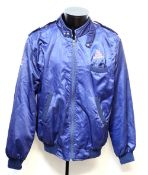 James Bond - The Living Daylights crew jacket with embroidered arm and chest, fits size large.