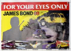 James Bond For Your Eyes Only (1981) Corgi promotional poster showing various cars from the