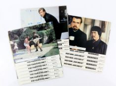 James Bond - Two sets of Front of House cards, Moonraker x 8 and For Your Eyes Only x 7, 10 x 8