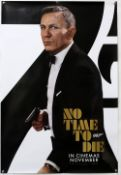 James Bond No Time To Die (2020) Main teaser One Sheet film poster, showing an image of Daniel