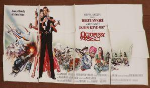James Bond Octopussy (1983) English Billboard film poster, starring Roger Moore, United Artists,