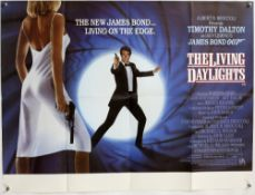 James Bond The Living Daylights (1987) British Quad poster for the Timothy Dalton film, folded, 30 x
