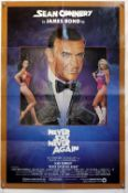 James Bond Never Say Never Again (1983) US One Sheet film poster, starring Sean Connery & directed