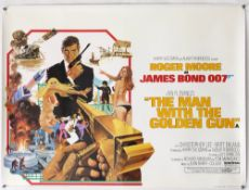 James Bond The Man With The Golden Gun (1974) British Quad film poster, starring Roger Moore &