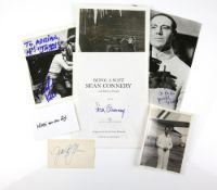 James Bond Autographs including Sean Connery, George Lazenby, Richard Kiel, Joseph Wiseman, Nikki