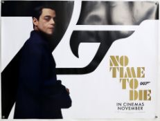James Bond No Time To Die (2020) Five Character British Quad film posters, each showing a