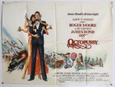 James Bond Octopussy (1983) British Quad film poster, starring Roger Moore, United Artists,