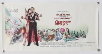 James Bond Octopussy (1983) US Special film poster, starring Roger Moore, United Artists, rolled, 14