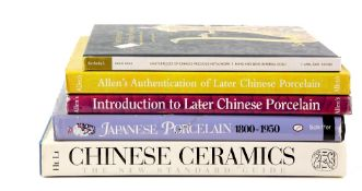 Five reference books on Chinese and Japanese Ceramics or Works of Art, comprising: 'Allen's
