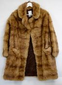2 1930s/40s Fox fur shoulder capes one black one grey (bearing labels with Art Deco leaping Stag)