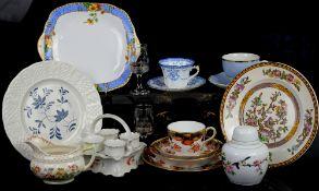 Washington Indian Tree plates, various jugs including one Royal Doulton Grantham, a set of Davenport