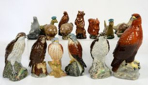 Beswick Beneagles scotch whisky ceramic decanters in the form of eagles, Lock Ness monster, and