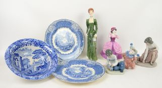Lladro and Nao figurines, Royal Doulton Lori, 'A La Mode', and various other decorative ceramics