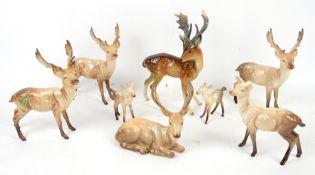 8 Beswick stags or deer