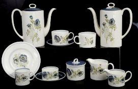 Royal Doulton Rose Elegans and Wedgwood Susie Cooper Glen Mist part tea services