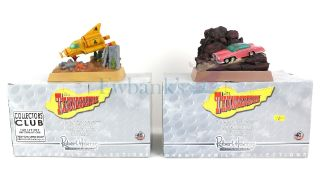 Thunderbirds - Two Robert Harrop detailed models of TB05 Thunderbird 4 and TB03 FAB 1, both boxed (