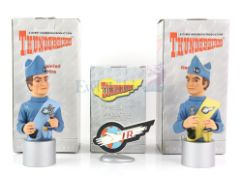 Thunderbirds - Two Robert Harrop detailed model figurines of TBHG01 Scott Tracy Bust and TBHG02