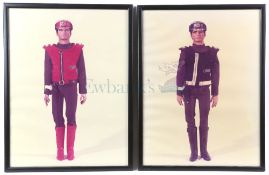 Captain Scarlet - 10 framed photos from Bray Studios showing the puppets, on the photos you can
