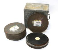 Thunderbird 6 (1968) 5 Film cannisters containing tins 1-5 on Cinemascope film, all labelled