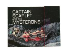 Captain Scarlet and the Mysterons (1967) Original ITC fold out laminate brochure showing photos from