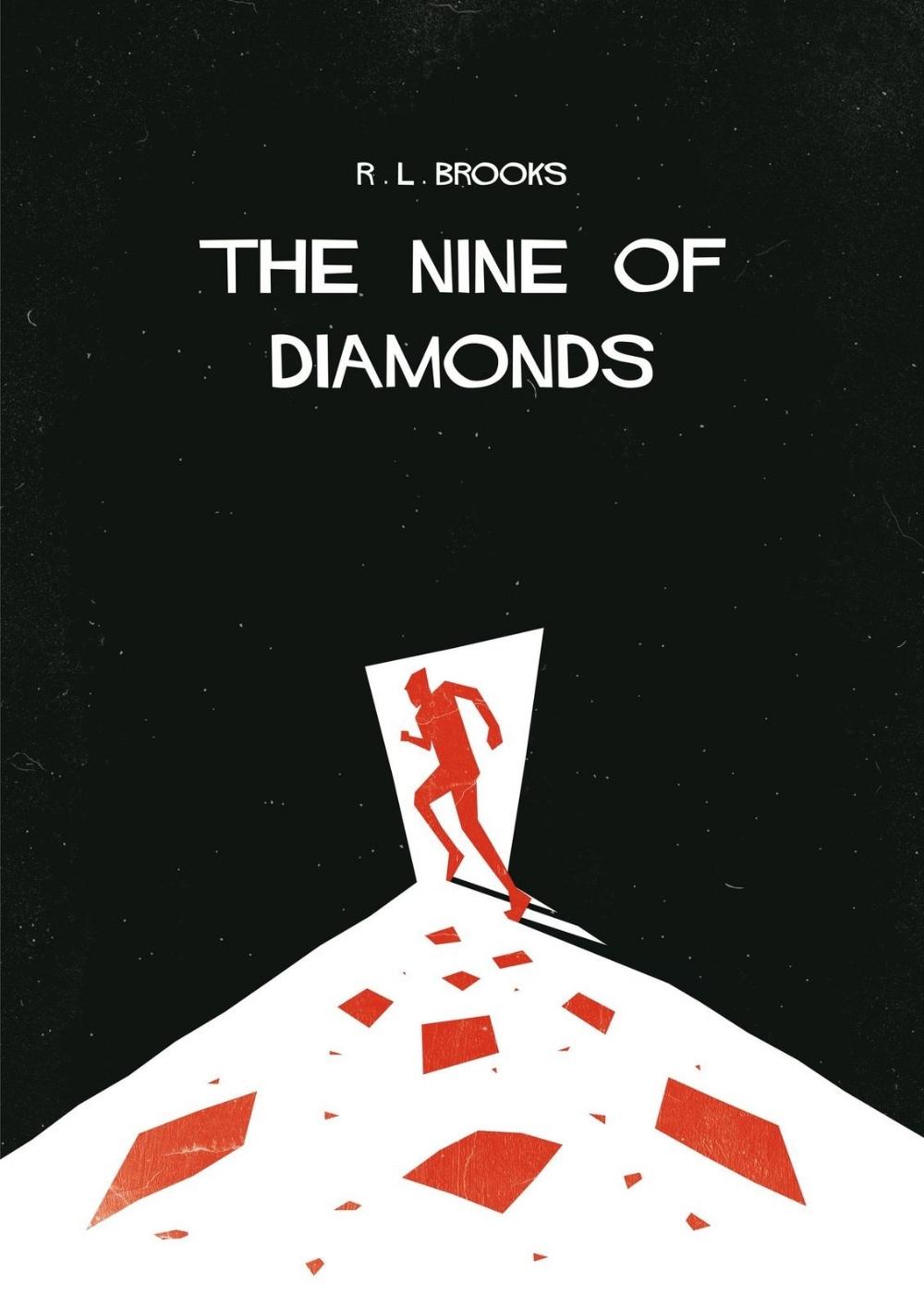 Dan Jennings (British). '9 of Diamonds'. Mixed media on paper. Rolled. Daniel is a freelance