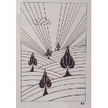 Rhiannon Evans (British, b.1996). 'Five of Spades', limited edition digital print. Signed and