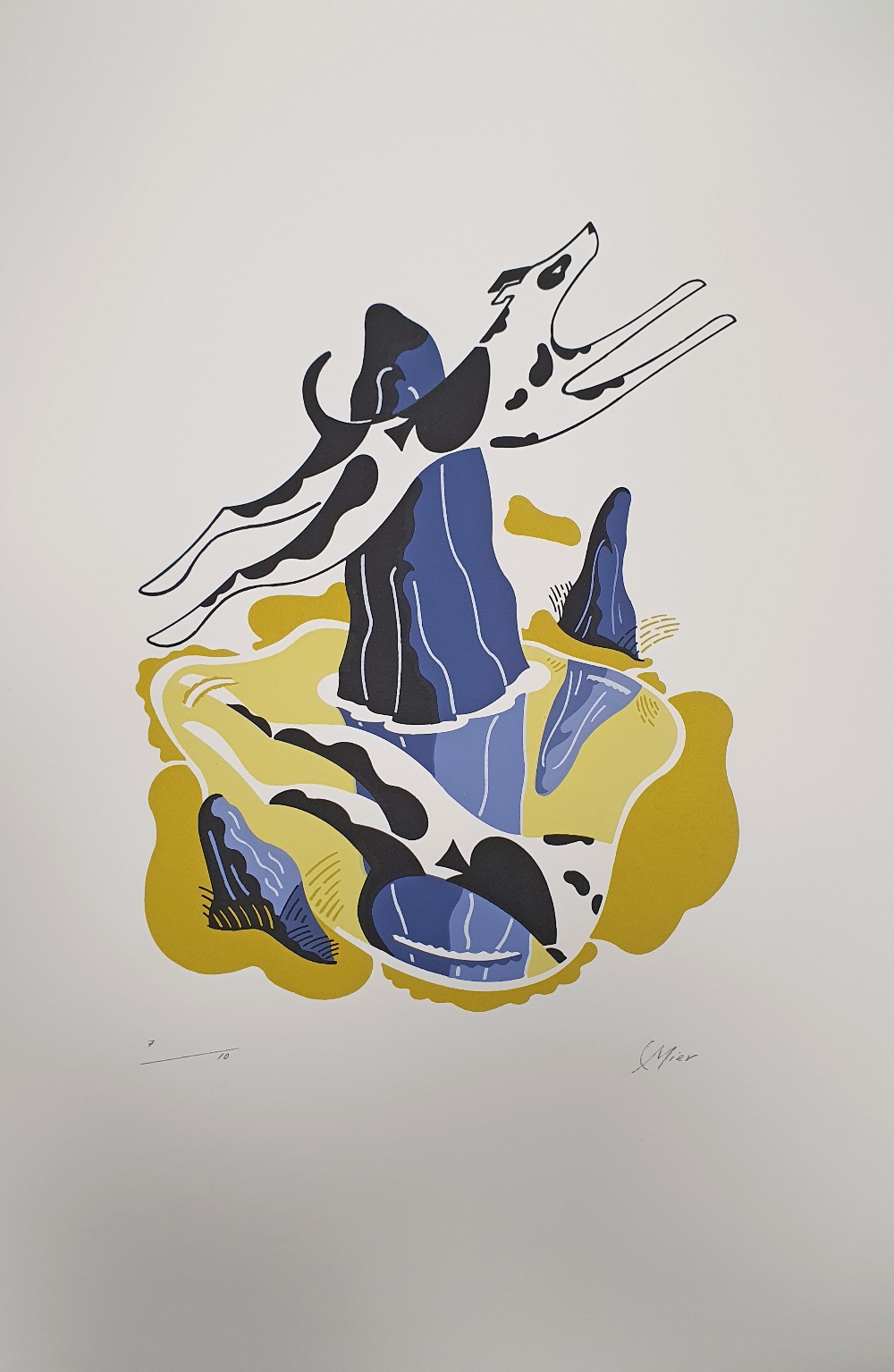 AMENDED Colin Mier (British). 'Two of Spades', one limited edition screenprint. Signed and numbered