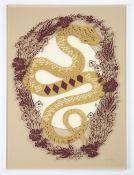 Hazel Partridge (British, b.1994). '5 of Diamonds'. Hand cut paper cutting on layers of acrylic.